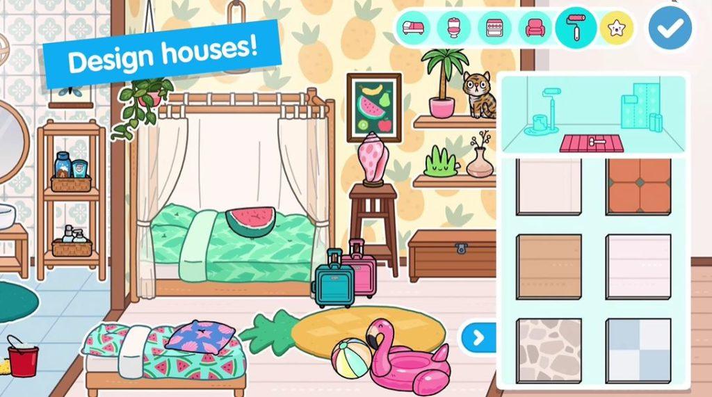 Создание дома в игре Тока Бока